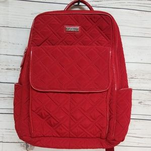 Vera Bradley Tango red quilted backpack